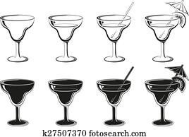 clipart glas mit getr nk schwarz piktogramm. Black Bedroom Furniture Sets. Home Design Ideas