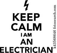 behalten, gelassen, ich, bin, a, elektriker