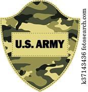 Camouflage shields U.S. Army