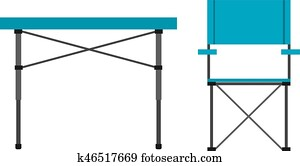 Camping table and chair