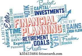 Financial Planning Word Collage
