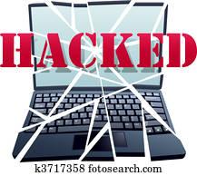 Hacker breaks security to crash Laptop Computer pieces