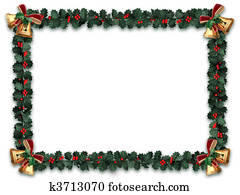Holly Garland Border