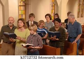 Singing Hymns in Church