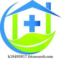 medizinisches symbol, natur, geschaefts, logo