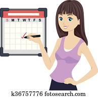 Teen Girl Workout Calendar