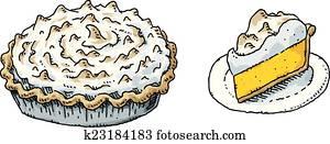 zitrone meringue torte