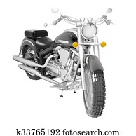 Classic motorcycle or bike isolated on white