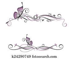 Decorative vector ornament