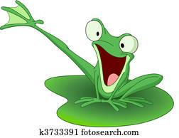 glücklich, frosch