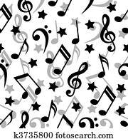 Seamless pattern with a music notes