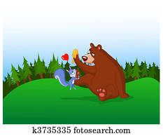 squirrel and bear