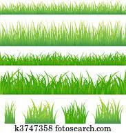 4, hintergruende, von, grünes gras, und, 4, büschel, von, gras