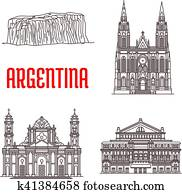 Argentina natural and architecture landmarks