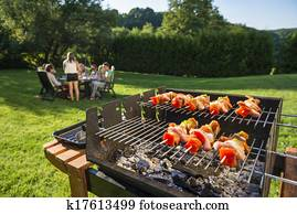 barbecue in the backyard