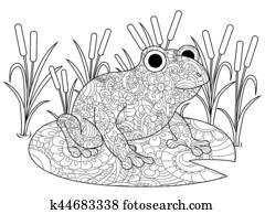 Frosch In Arum Lilie Stock Bild K3530071 Fotosearch
