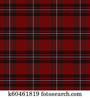 Mac Gregor Tartan. Scottish cage background