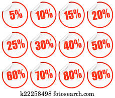 Discount Stickers - red