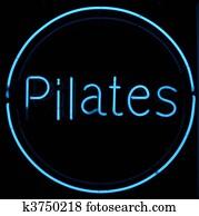 Pilates Neon Sign