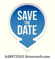 Save the Date label lettering