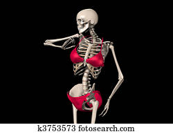 Skeleton In A Bikini