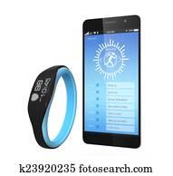 Smart wristband and smart phone