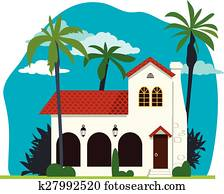 Spanish colonial house