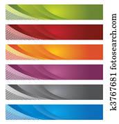 Digital banners in gradient & lines