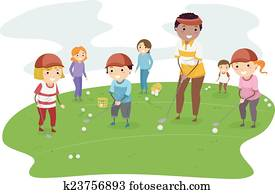 Stickman Kids Golf Lesson