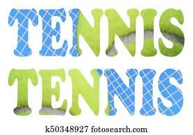 tennis sign icon