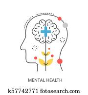 Mental health vector illustration concept.