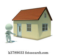 3d small people - show a home