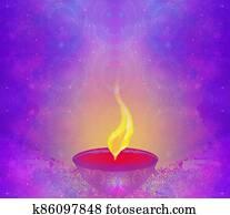 abstract diwali celebration card