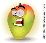 Cartoon Funny Mango Character