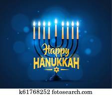 Happy Hanukkah background cover.