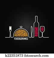 food and drink menu background
