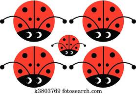 lady bug with eyes