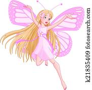 Beautiful flying fairy