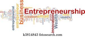 Business entrepreneurship background concept
