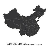 china, landkarte