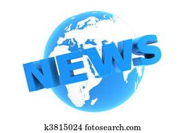 News Around the World - Glossy Blue
