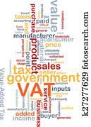 VAT wordcloud concept illustration