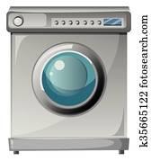 waschmaschine, mit, eingangstür
