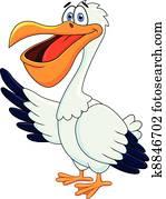 Pelican Cartoon
