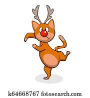 Dancing cat deer