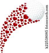 Golf Heart Swoosh