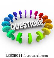 Question Marks Around Word
