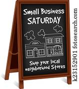 Sign Easel, Small Business Saturday
