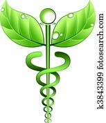naturmedizin, symbol, vektor
