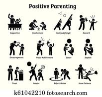 Positive parenting child upbringing.